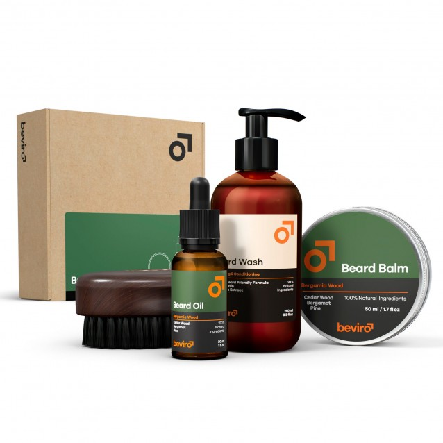 Set ingrijire barba Beviro Complete Beard Set Bergamia Wood