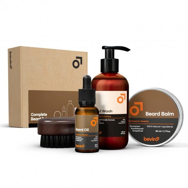 Set ingrijire barba Beviro Complete Beard Set Cinnamon Season