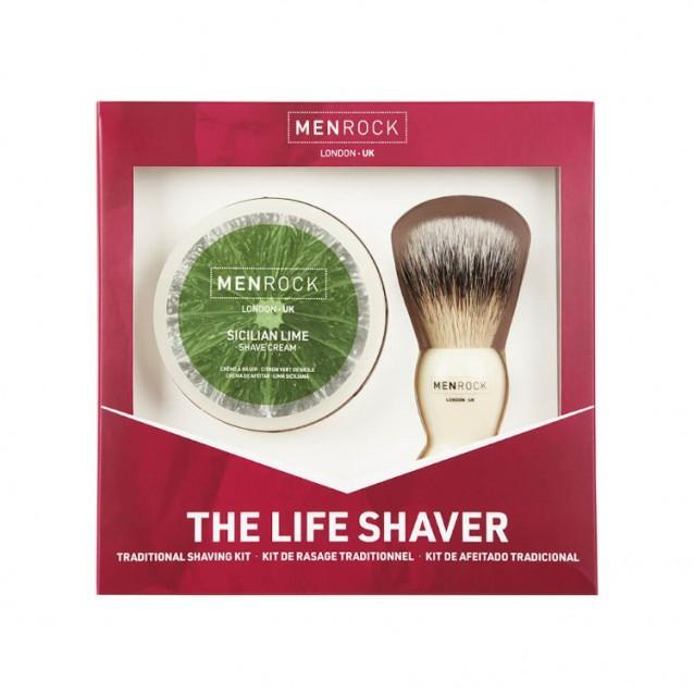 Set pentru Barbierit Men Rock The Life Shave Sicilian Lime - Men Rock